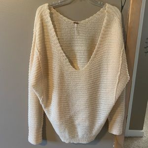 NWT Free People Peach Colored Sweater-Lg